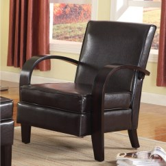 Recliner Club Chair Grey Adirondack Chairs Wonda Brown Bonded Leather Accent With Wood Arms - Free Shipping Today Overstock.com ...