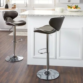 kitchen bar stools swags and valances buy counter online at overstock com our best dining masaccio leatherette airlift adjustable swivel barstool set of 2