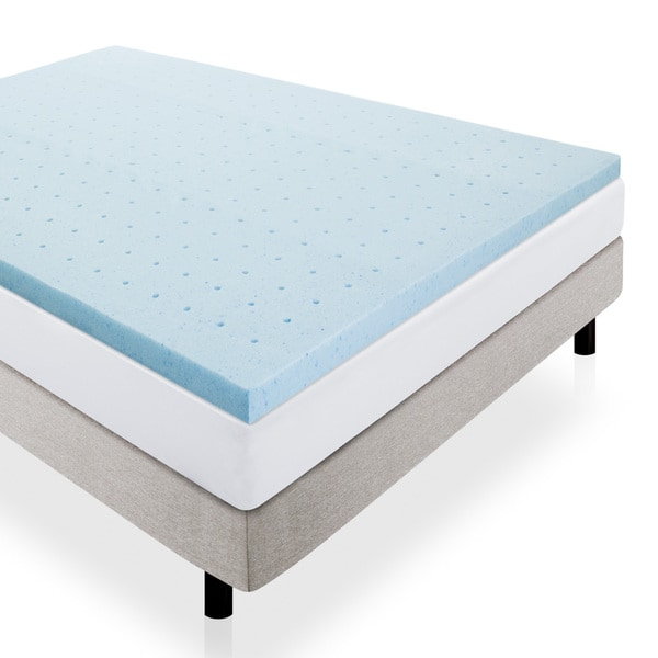 Lucid Ventilated 2 Inch Gel Memory Foam Mattress Topper