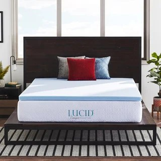Lucid Ventilated 2 Inch Gel Memory Foam Mattress Topper Option California King