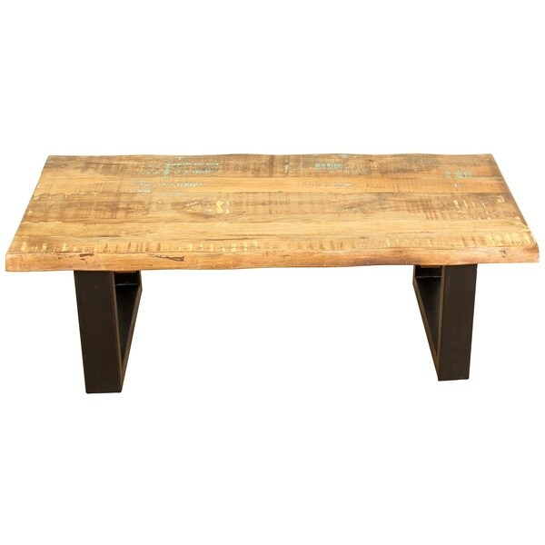 handmade hardwood rectangle cocktail table 18 x 30 x 54 india 18 h x 30 w x 54 l