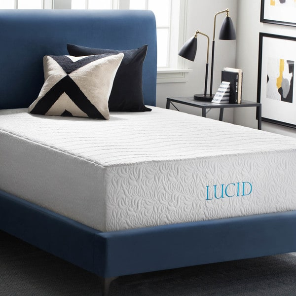 Lucid 16 Inch Queen Size Gel Memory Foam And Latex Hybrid Mattress