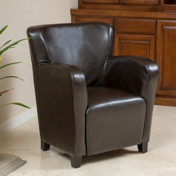 leather wingback chairs canada how to make a wooden rocking chair shop angelo bonded club by christopher knight home