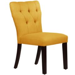 Tufted Yellow Chair Design Scandinavian Shop Skyline Furniture Hourglass Dining In Linen French On Sale Free Shipping Today Overstock Com 10913796