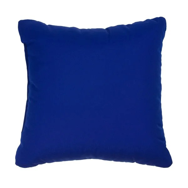 Shop Cobalt Blue Indoor Outdoor Square Throw Pillows Set