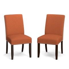 Orange Upholstered Chair Inflatable Kids Shop Clay Alder Home Alvord Linen