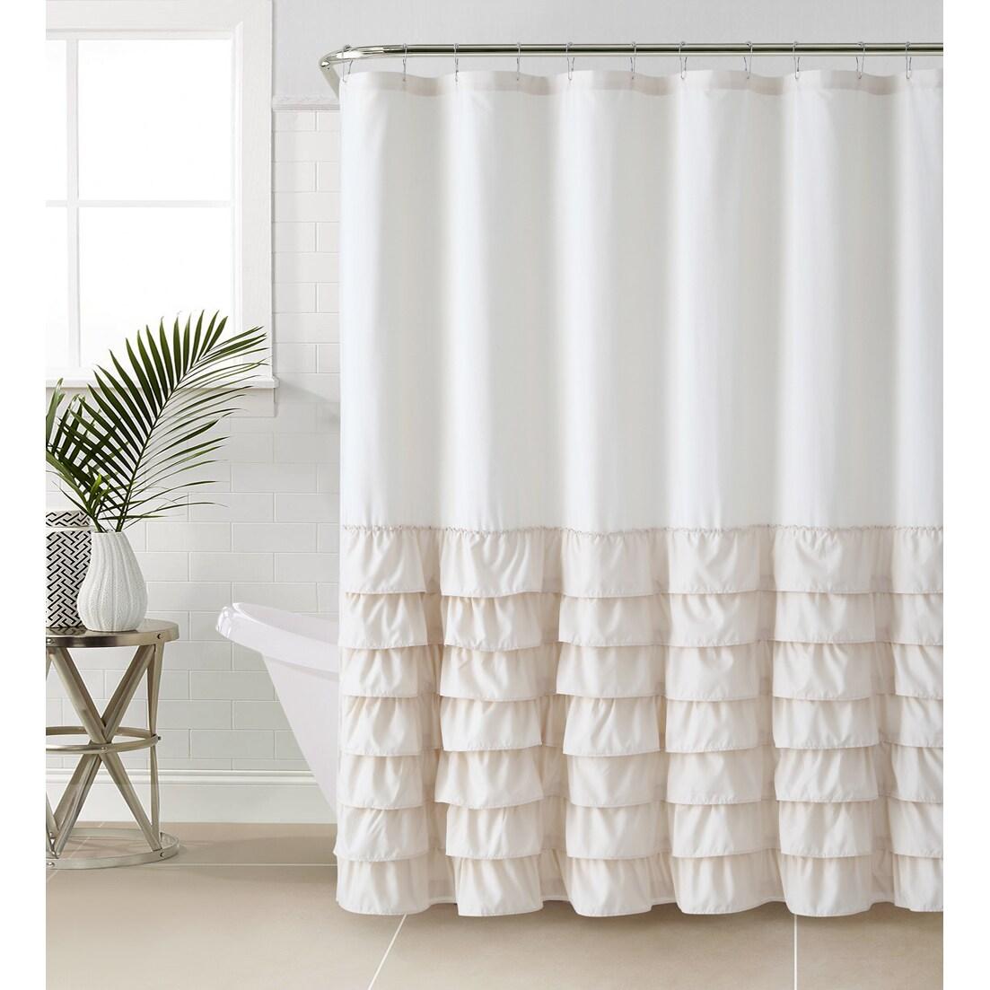 vcny melanie ruffle shower curtain