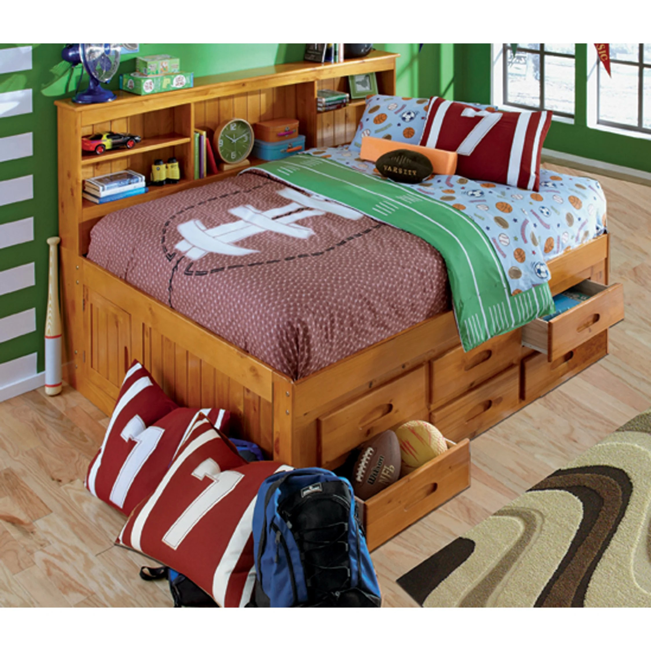 Full Daybed 6 Drawer Storage Unit