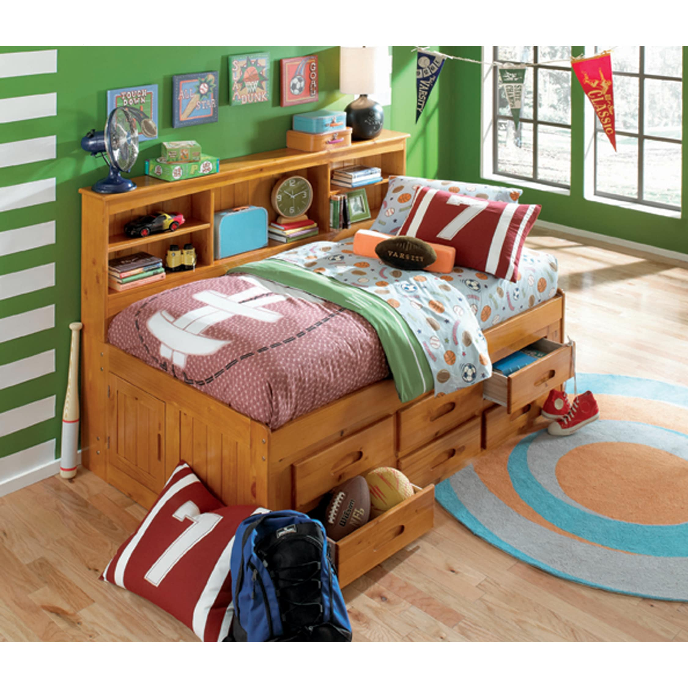 Twin 6 Drawer Storage Unit Daybed