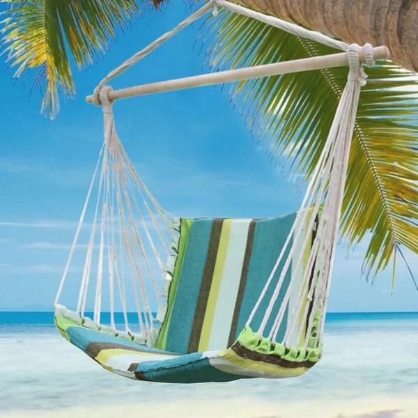 tree hanging hammock chair toddler recliner shop adeco cotton fabric canvas suspended outdoor indoor