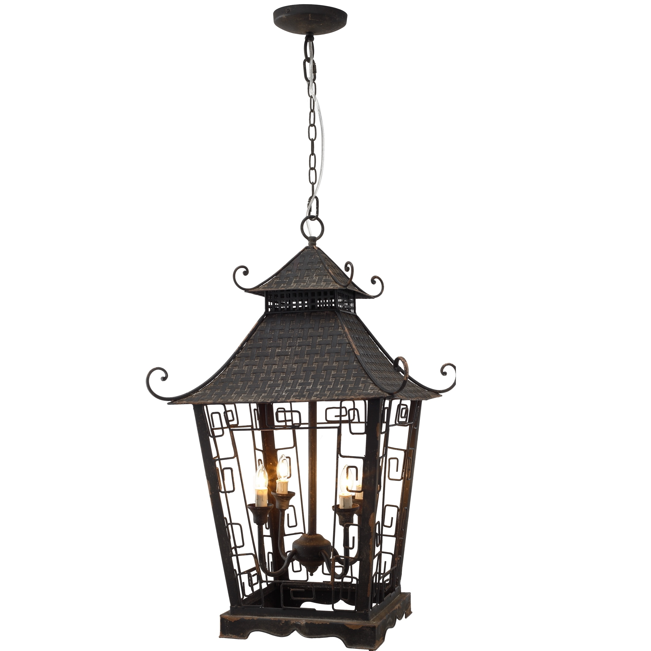 Ming Iron Chandelier with Black Color