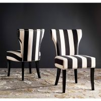Safavieh En Vogue Dining Matty Black and White Striped ...