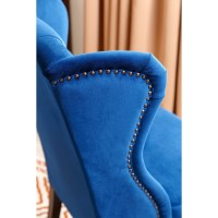 Blue Velvet Wingback Dining Chairs - Home Ideas