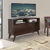 WYNDENHALL Tierney Mid-century Tall TV Media Stand for TV ...