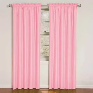 Exclusive Fabrics Precious Pink Blackout Thermal Curtain Panel
