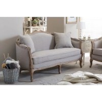 Shop French Country Beige Loveseat by Baxton Studio - Free ...