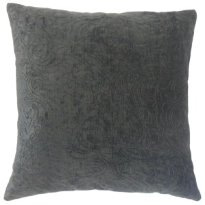 Hertzel Solid Feather and Down Filled 18-inch Throw Pillow