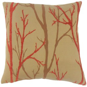 Ryne Foliage Feather and Down Filled 18-inch Throw Pillow