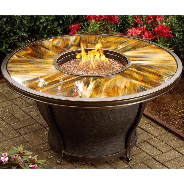 Shop Premium Sunlight Fiberglass Round Gas Fire Pit Table