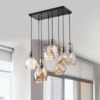 Oliver James Yinka Antique Glass Pendant Lights
