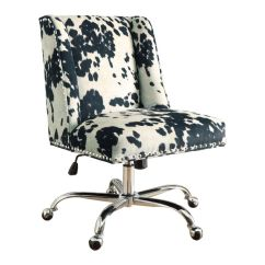 Cow Print Chair White Outdoor Covers Shop Linon Violet Office Free Shipping Today