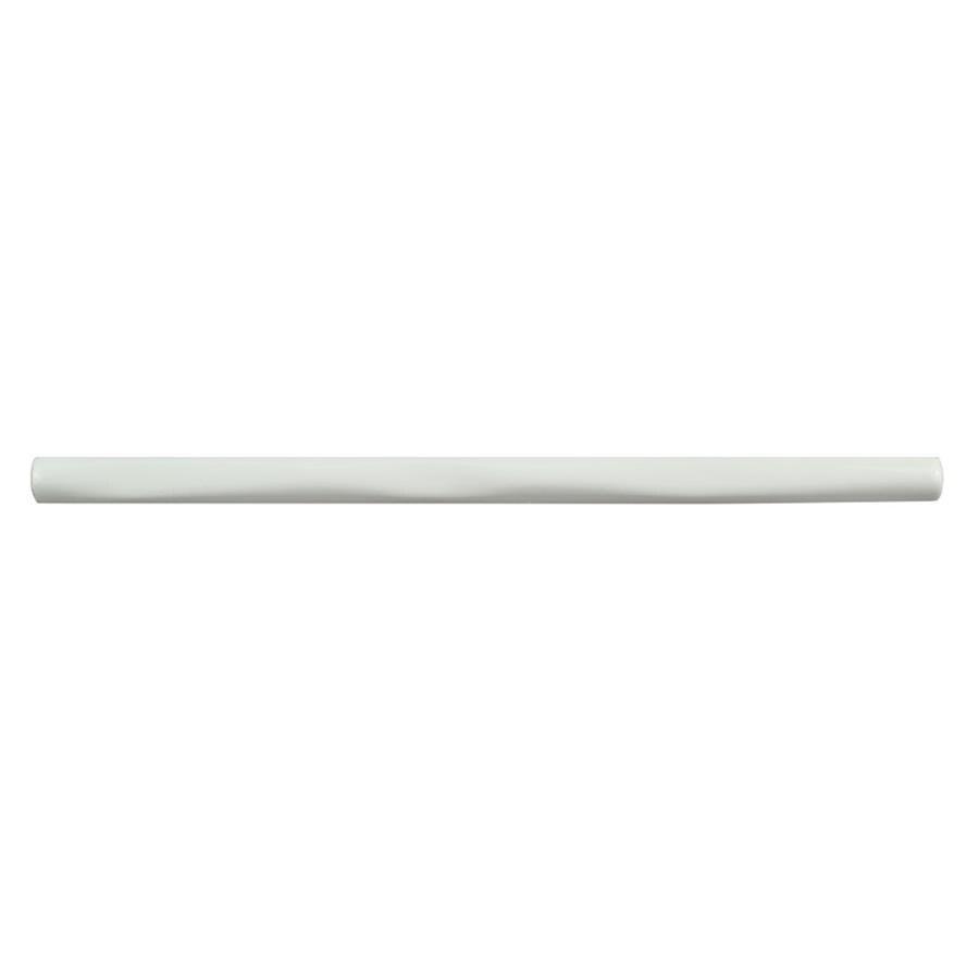 somertile 0 375x7 875 inch rucoso blanco brillo ceramic pencil listelo trim wall tile