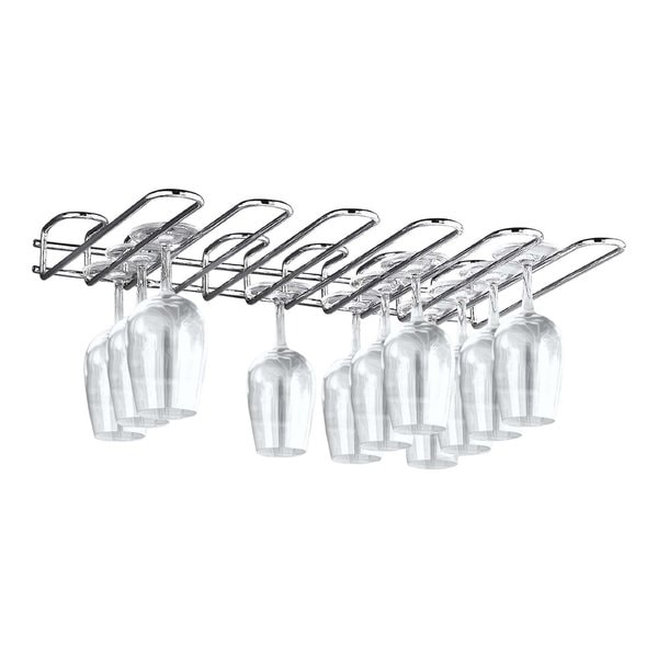 Shop Paderno World Cuisine Chromed Steel Glass Rack