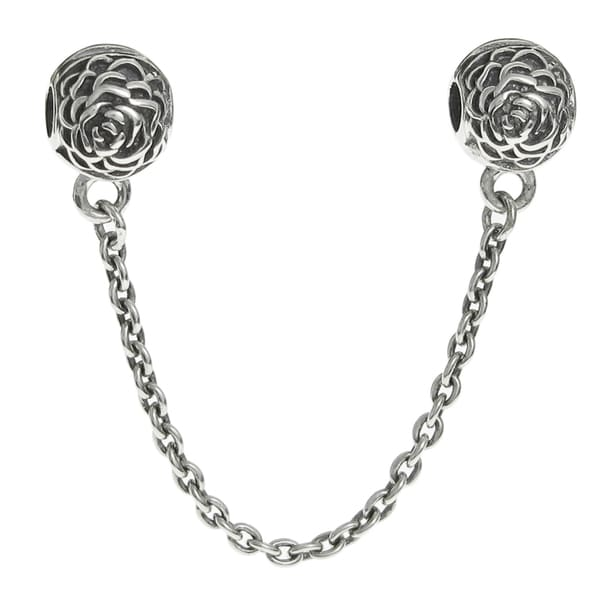 Shop Sterling Silver Round Rose Stopper Safety Chain