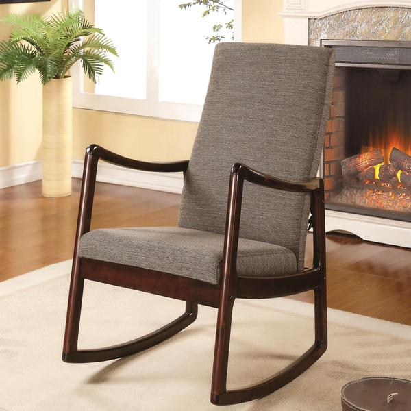 Amelia Contemporary Modern Upholstered Rocking Chair ...