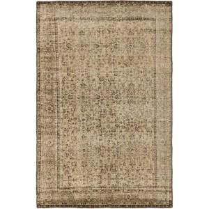 ecarpetgallery Anatolian Overdyed Beige Wool Area Rug (6'4 x 9'10)
