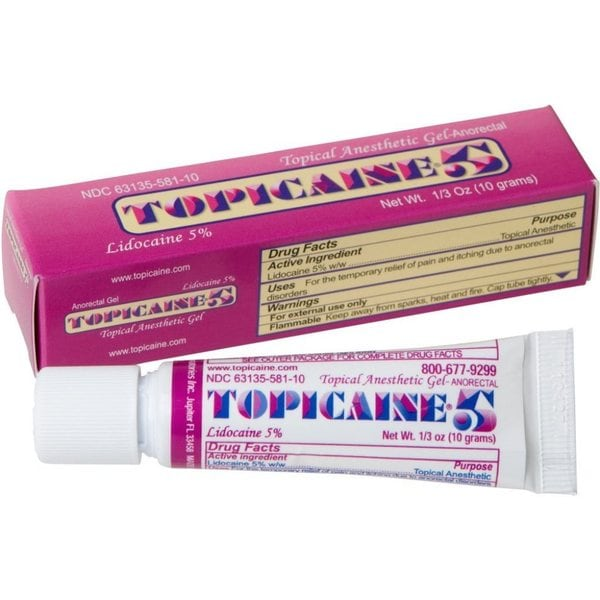 Topicaine 5 Skin Numbing Topical Anesthetic 5-percent ...