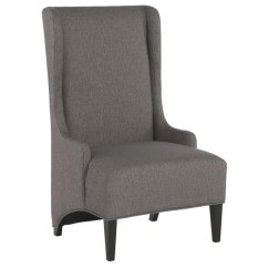 Tall Back Chairs Butterfly Chair Replacement Covers Shop Linon Ana Charcoal Free Shipping Today