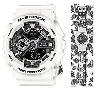 Casio G-Shock GMAS110F-7ACR Analog-Digital Dial White