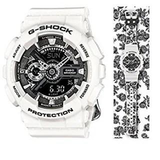 Casio G-Shock GMAS110F-7ACR Analog-Digital Dial White