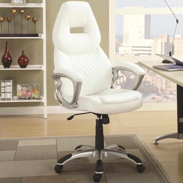 quilted swivel chair electronic wheel zender adjustable design modern office - free shipping today overstock ...