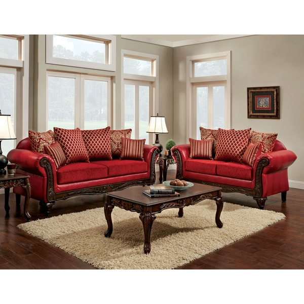 Furniture of America Cardinal Formal 2piece Traditional