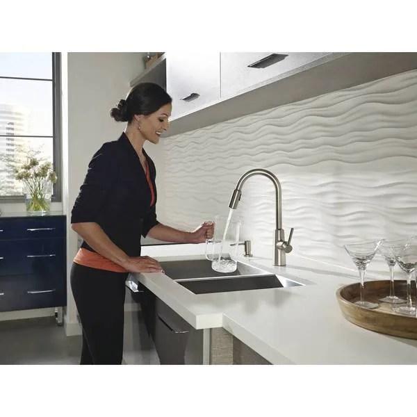 moen nori single hole kitchen faucet 87066srs spot resist stainless finish