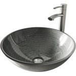 Oval Bathroom Glass Vessel Sink Bowl Silver Basin Faucet Pop Up Drain Combo Set