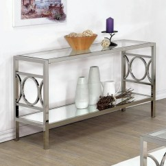 Natal Chrome And Glass Sofa Table Rv Bed Replacement Mattress Furniture Of America Mishie Contemporary Top ...