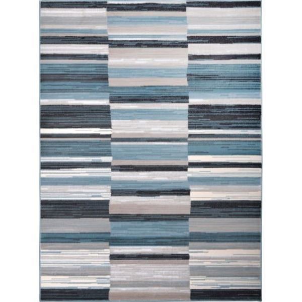Home Dynamix Oxford Collection BlueGrey Striped Area