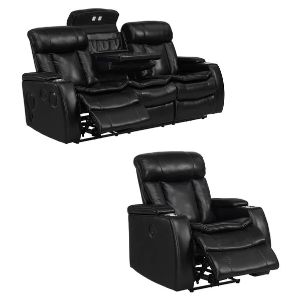 recliner chair bed target game chairs shop smart tech bluetooth power reclining black sofa and