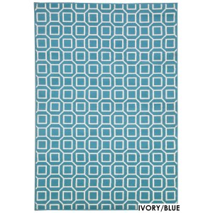 """Rizzy Home Glendale Collection Power-loomed Geometric Area Rug (6'7 x 9'6) - 6'7"""" x 9'6"""""""