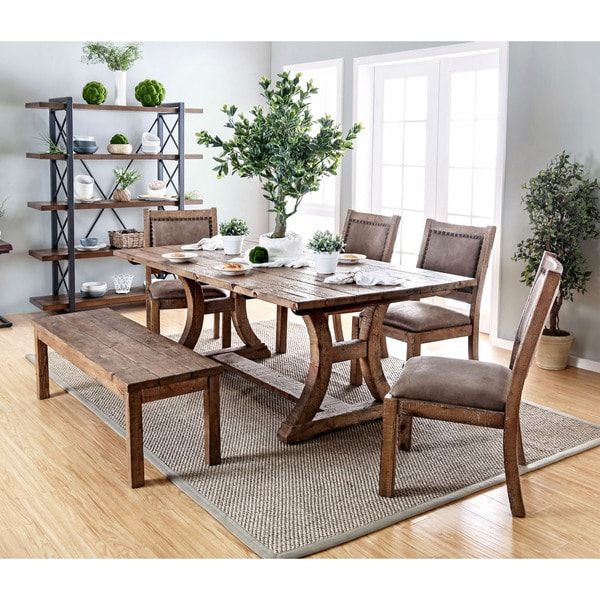 pine kitchen table redoing cabinets shop matthias industrial rustic dining by foa on sale free shipping today overstock com 11149919