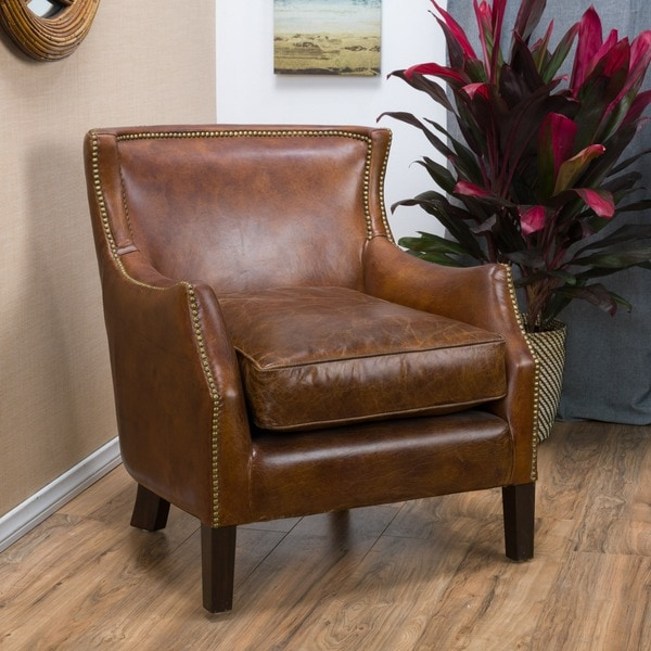 Tillo Top Grain Vintage Brown Leather Club Chair by