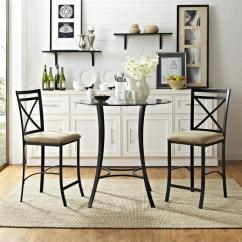 3 Piece Living Room Table Set Side Chairs For Shop Dorel Valerie Counter Height Dining On