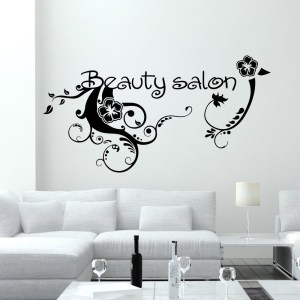 Wall Decal Fashion Flowers Beauty Salon Design Vinyl Decals Wedding Hair Salon Decor Window