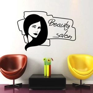 Wall Decal Fashion Beauty Salon Face Girl Woman Vinyl Decals Wedding Hairdressing Decor