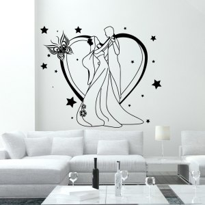 Wall Decal Fashion Beauty Salon Newlyweds Feast Love Family Design Vinyl Decals Decor