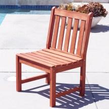 Malibu Eco-friendly Outdoor Hardwood Garden Armless