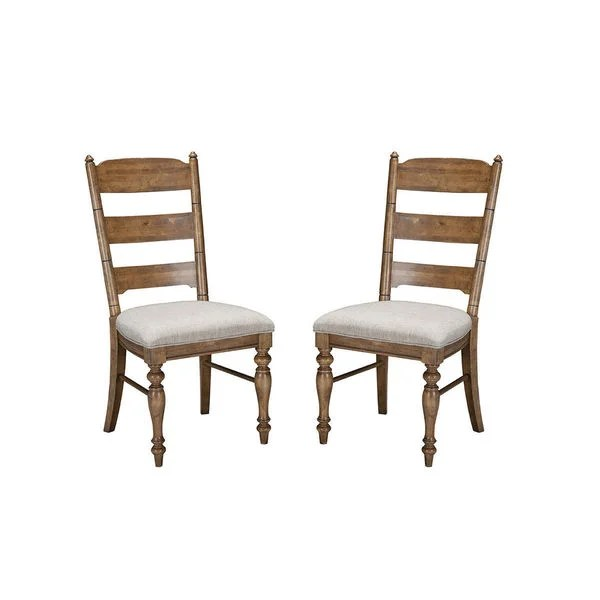 ladderback dining chairs quickie wheelchair parts shop lake house brushed sand chair set of 2 on